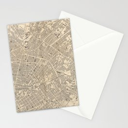 Vintage Map of Manchester England (1851) Stationery Cards