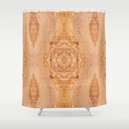 Olive wood surface texture abstract Shower Curtain