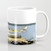 airplane Mugs featuring Airplane by Cindys