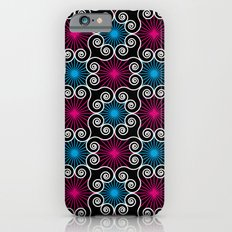 Wild Lacy Swirls of Pink and Blue iPhone 6s Slim Case
