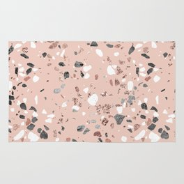 Pink Quartz and Marble Terrazzo Rug