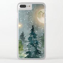 Winter Wonderland 13 Clear iPhone Case