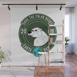 Polar Bear Ice Earth Day 2019 Wall Mural
