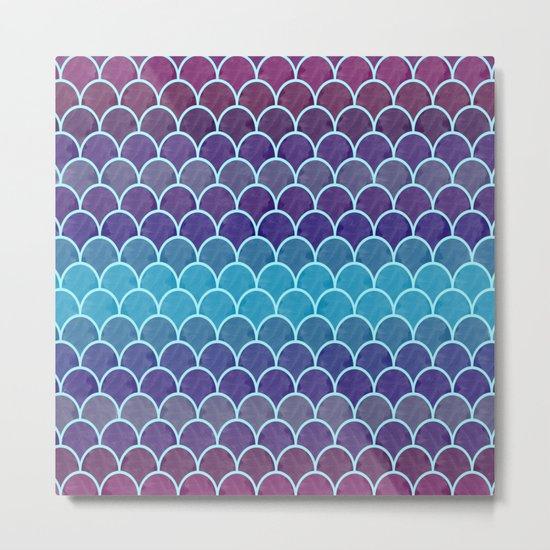 Watercolor Lovely Pattern VVIII Metal Print