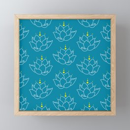 Water Lilies Framed Mini Art Print