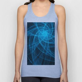 Tulles Star Computer Art in Blue Unisex Tank Top