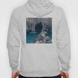 Hidden, Mysterious Tropical Sea Cave Aerial View Hoody