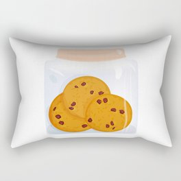 Chocolate chip cookie, homemade biscuit in glass jar Rectangular Pillow