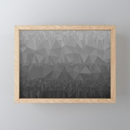 Black and Grey Ombre - Flipped Framed Mini Art Print