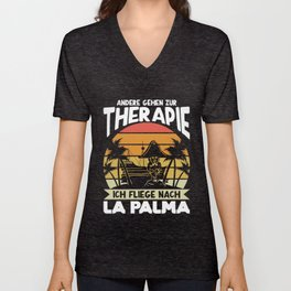 La Palma Therapy Holidays Canaries Emigration Unisex V-Neck