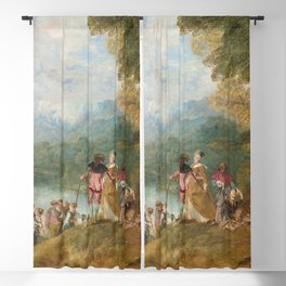 """Antoine Watteau """"The Embarkation for Cythera"""" Blackout Curtain"""