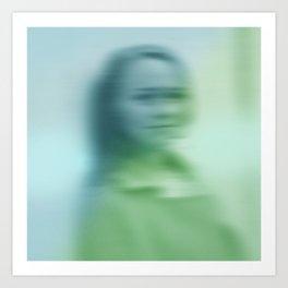 Blurry face Art Print
