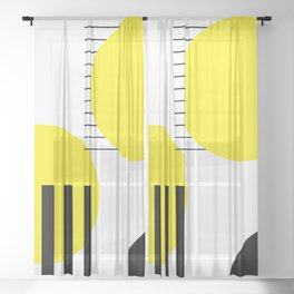 Abstract design Sheer Curtain