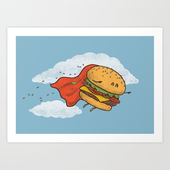 Superburger! Art Print