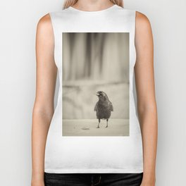 Betsy's Crow In The Snow Biker Tank