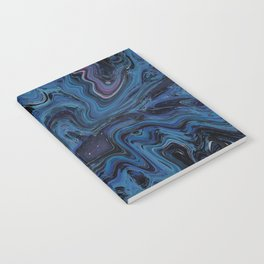 Navy Puddle Notebook