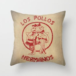 Los Pollos Hermanos vintage ( Breaking Bad ) Throw Pillow