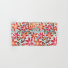 Cute Lilies and Leaves Hand & Bath Towel