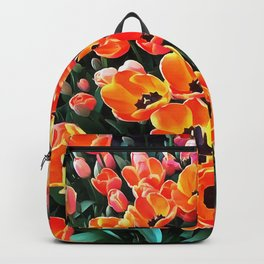 Bright Red Tulips of Istanbul Backpack