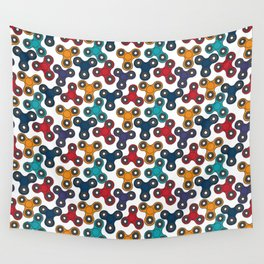 Pattern with spinners Wall Tapestry