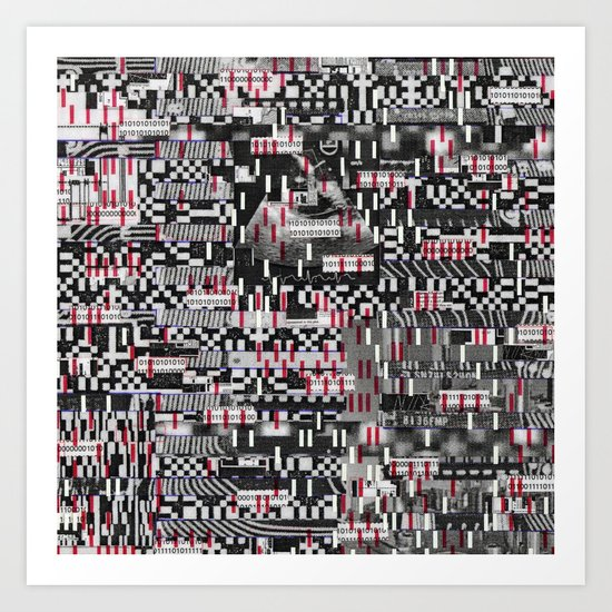 Comfortable Ambiguity (P/D3 Glitch Collage Studies) Art Print