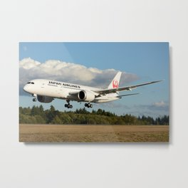 Japan Airlines Boeing 787 Metal Print