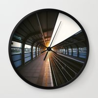 jewish Wall Clocks featuring The light at the end of the tunnel by Brown Eyed Lady