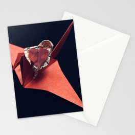 FLY WITH THE CRANE BIRD Stationery Cards