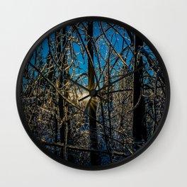 Frozen ice trees Wall Clock