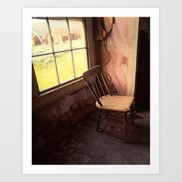 Through The Window Art Print