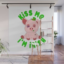 St Patricks Day Pig Piggy Piglet Shenanigan St. Paddys Wall Mural