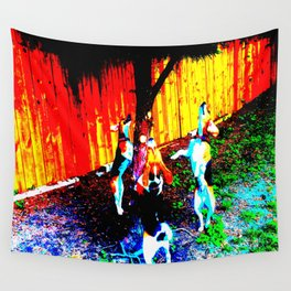 Barking Up The Wrong Tree Wall Tapestry