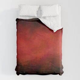 Abstract Red Black Dark Matter Comforters