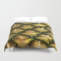 strawberry Duvet Covers featuring Strawberry by Leah Moloney Photo