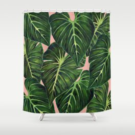 Tropical II Coral Shower Curtain