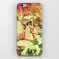 carousel iPhone & iPod Skins featuring Carousel by elle moss
