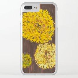 lichen in yew tree Clear iPhone Case