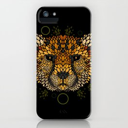 Cheetah Face iPhone Case