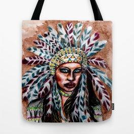 Lumbee Woman - Indian Native American Tote Bag