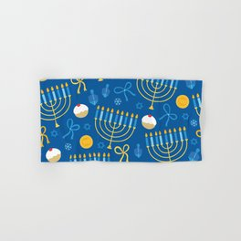 Hanukkah Menorah Pattern Hand & Bath Towel