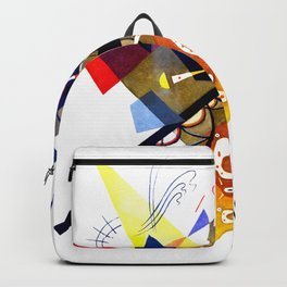 Kandinsky On White II (Auf Weiss) 1923 Artwork Reproduction, Design for Posters, Prints, Tshirts, Me Backpack