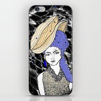 hats iPhone & iPod Skins featuring Hats by Madame Mim