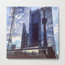 CN Tower Reflection Metal Print