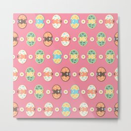 Cute eggs pattern Metal Print