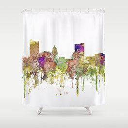 Fort Wayne, Indiana Skyline Shower Curtain
