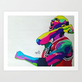 MichaelJordan (celebrate) Art Print