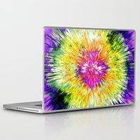tie dye Laptop & iPad Skins featuring Textured Retro Tie Dye by Phil Perkins