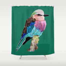 Lilac Breasted Roller Bird Shower Curtain