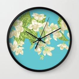Infinitive Jasmine Branch Wall Clock