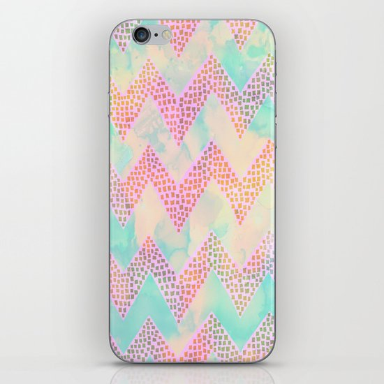 Little Squares Chevron - Pastel iPhone & iPod Skin